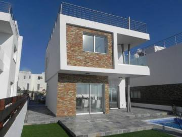 3 bed detached modern house in Kissonerga